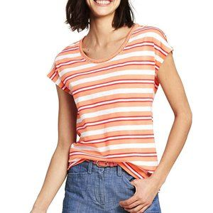 NWT Land's End Scoop Neck Striped Petite T-Shirt
